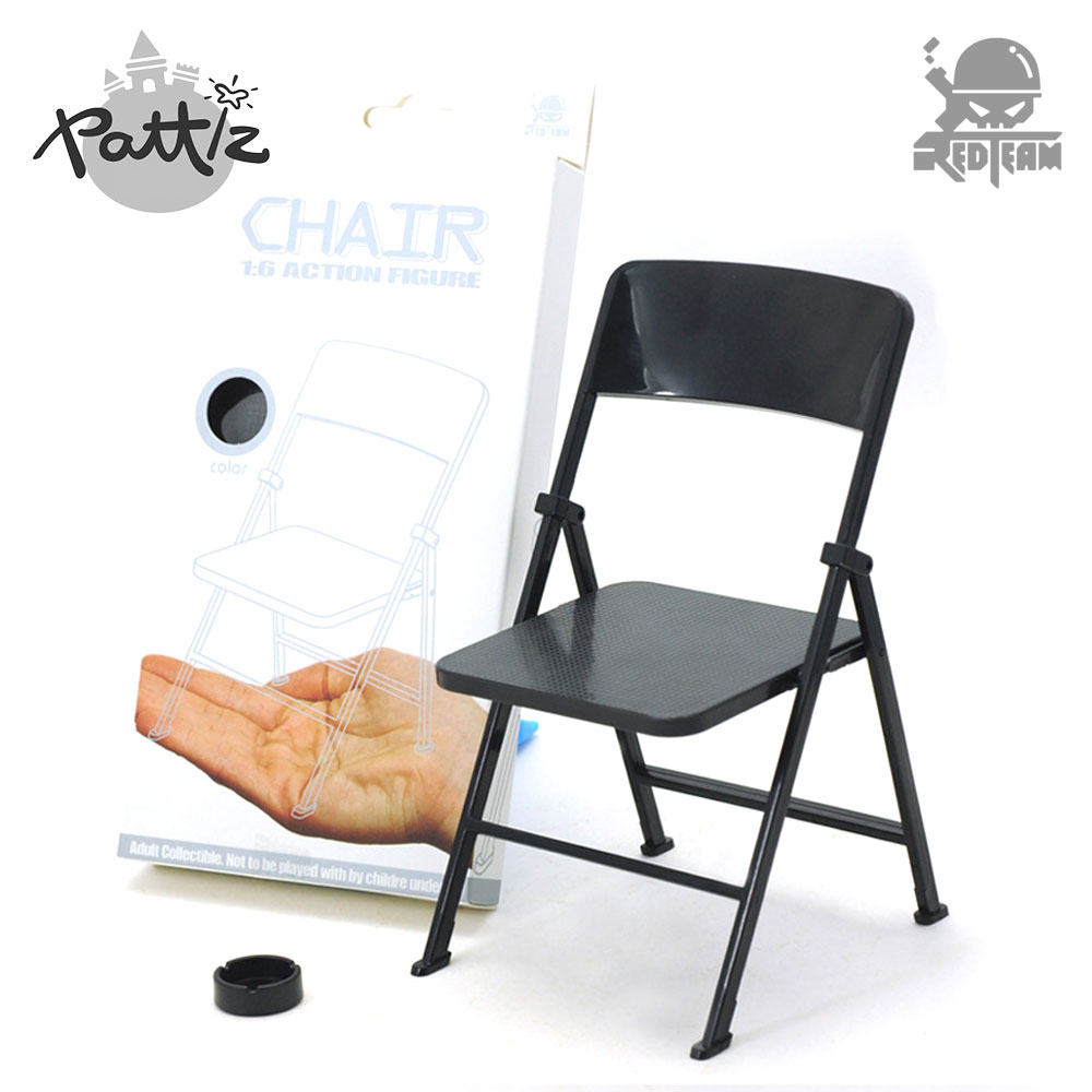 PATTIZ 1:6 Scale Action Figure Chair Soldiers Accessories 12 Folding Chair With Ashtray For Dolls Mini Dollhouse Furniture Toy mnotht 1 6 action figure panzer third
