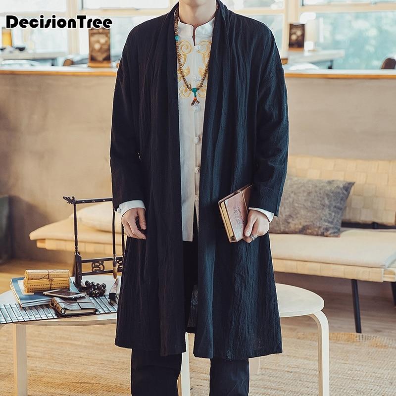 db52c08bc79d8 Cardigan Japonés Kimono Largo 2019 Nuevo Negro Chaqueta color2 Hombre Onda  Impresión Hombres Color1 tqUHCwx