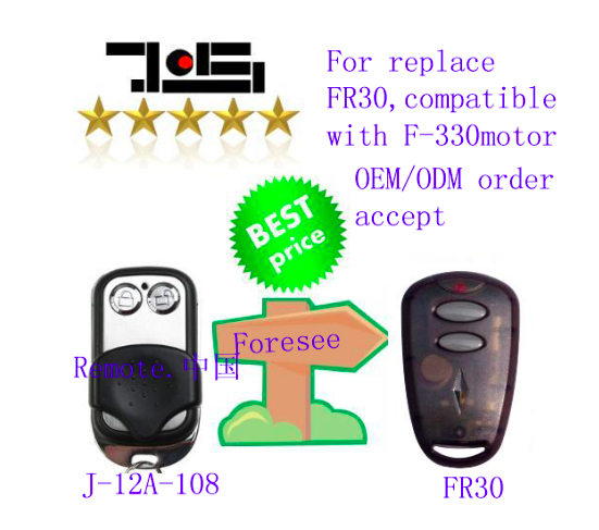 Foresee garage door remote repalcement suit for F-330M,F-330G motor ,foresee remote цена