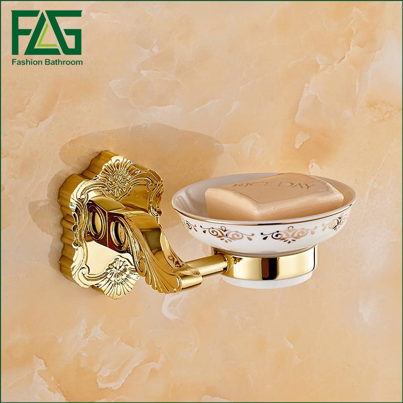 Aliexpress com  Buy Bathroom Accessories New Golden Finish Brass Basket Soap Dish gold and white Holder from Reliable soap dish suppliers on