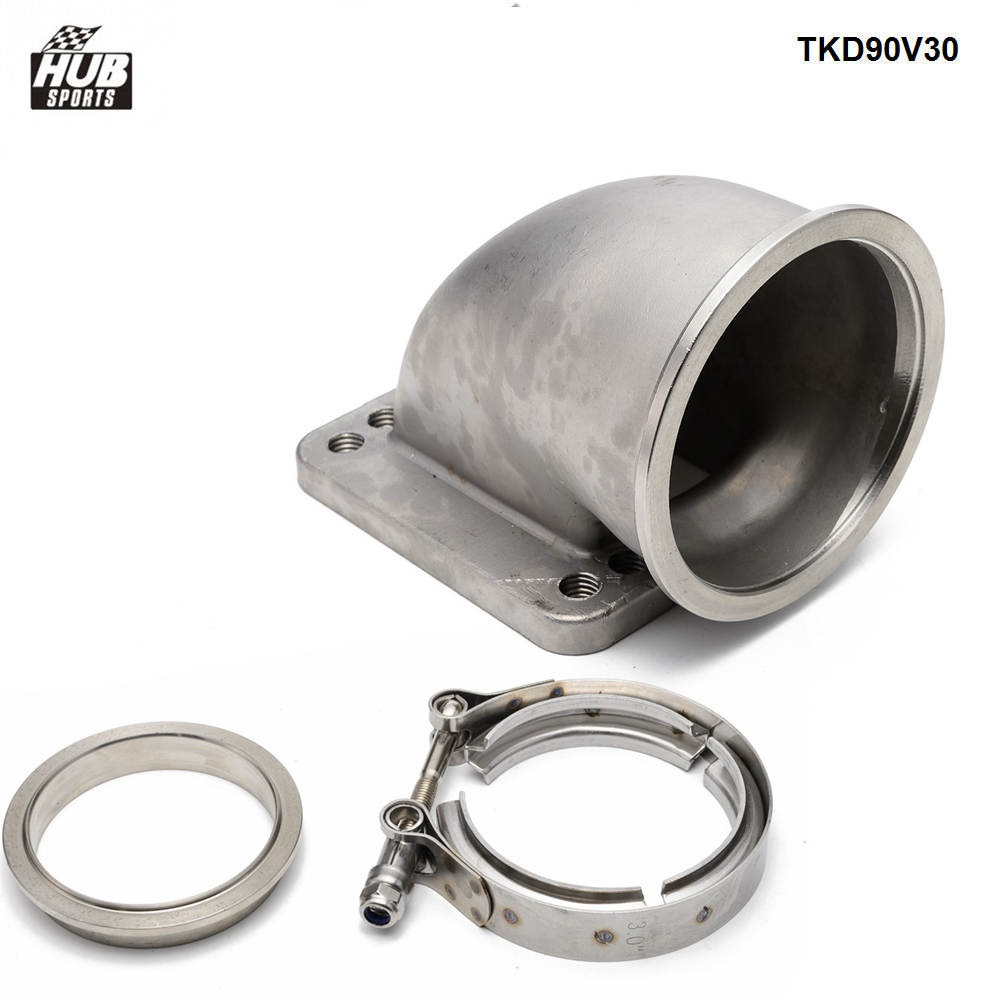 """T3 T4 5 Bolt Turbo Downpipe Flange To 2.5/"""" V Band Conversion Adaptor clamp set"""