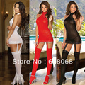 Free Shipping New Arrival Sexy Lady's Lingerie Set Multicolor Temptation Lace Sleepwear Uniform Tops+G-string+Socks Set Costumes