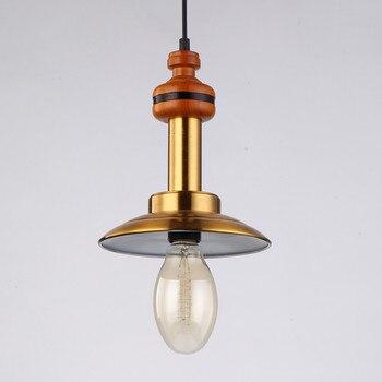 Warm Loft Lantaarn Hanglampen Met Koperen Lampenkap Noord-europa Platteland Vintage Antieke Opknoping Verlichting Armaturen