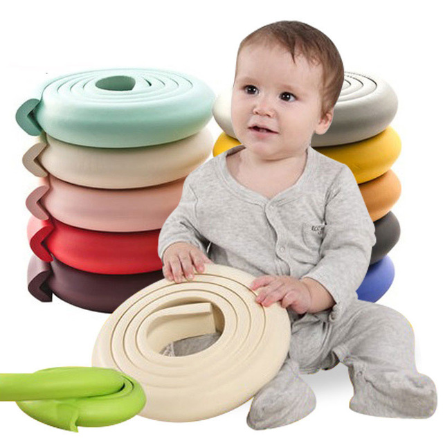 2 M Kids Table Corner Protector Child Security Safety Products Baby Rubber Protectors Glass Table Corner Guards Edge Protection