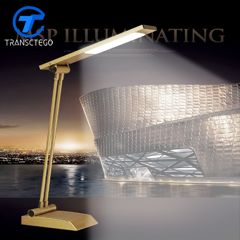 TRANSCTEGO LED eye protection table lamp touch control study reading desk lights no rechargebale led table lamp reading lamp led study lamp table lamp eye protection office study desk light modern book lights wall lights