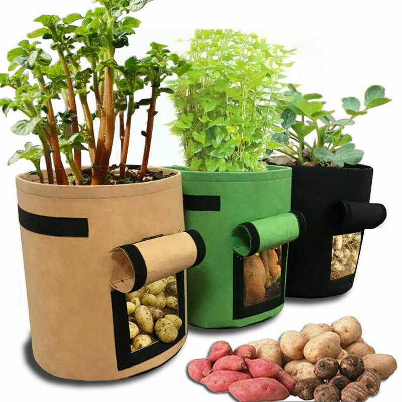 7 галлонов 30x35 см ткани помидоры картофеля растут мешок с ручками цветы горшок для выращивания овощей сумки домашний сад посадки аксессуары
