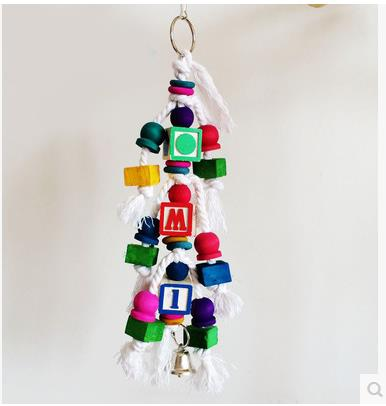 Creative Parrot supplies chew toys block letters decor design ...