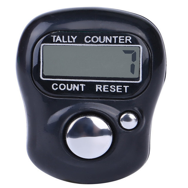 Цифровой ЖК дисплей Электронный Гольф палец рук кольцо Вязание Ряд Tally счетчик TALLY шагомер # F #40AT14