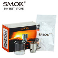 100 Original SMOK V8 Baby RBA Coil Head With Pyrex Glass Tube For TFV8 Baby Beast