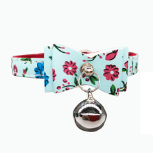 Flower Dog Collar for Cat Small Adjustable Pu Leather Pet Dog Puppy Cat Collar Necklace pet product 2 color Soft Velvet collar