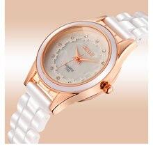 BO-1105 Conchas de Cerámica de la Mujer Relojes de Moda Bohemia Plisada Color de Diamante cara Impermeable Relojes Casuales