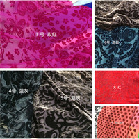 De grote Europese en Amerikaanse custom verbrande hollow zijde fluwelen doek jurk cheongsam shirt stof/100*110 cm
