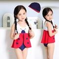 2016 maiô menina biquíni Flor bug fadas One-piece besouros bebê swimwear menina swimwear para 2-7 anos de idade CC107
