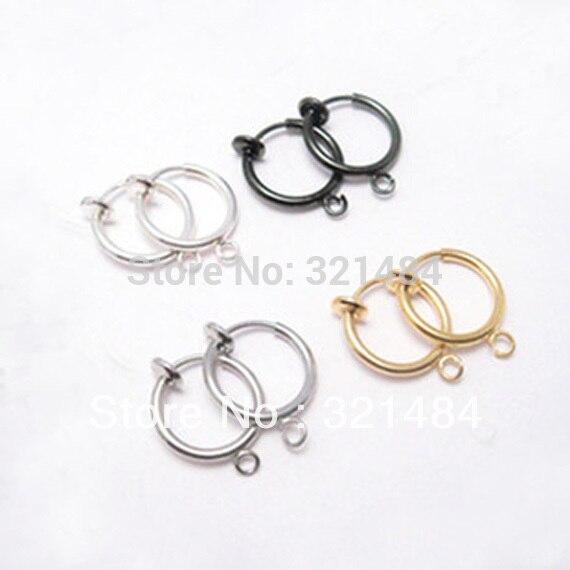 13 мм 200 шт = 100 пар пружинное кольцо зажим для серьги, приклад серьги с крючком