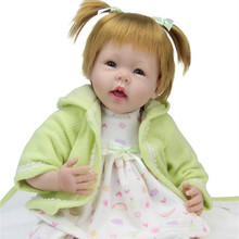 Fashion Short Hair Reborn Baby Girl Dolls For Sale 22 Inches 55cm Lifelike Handmade Alive Newborn Baby Dolls Play House Girls