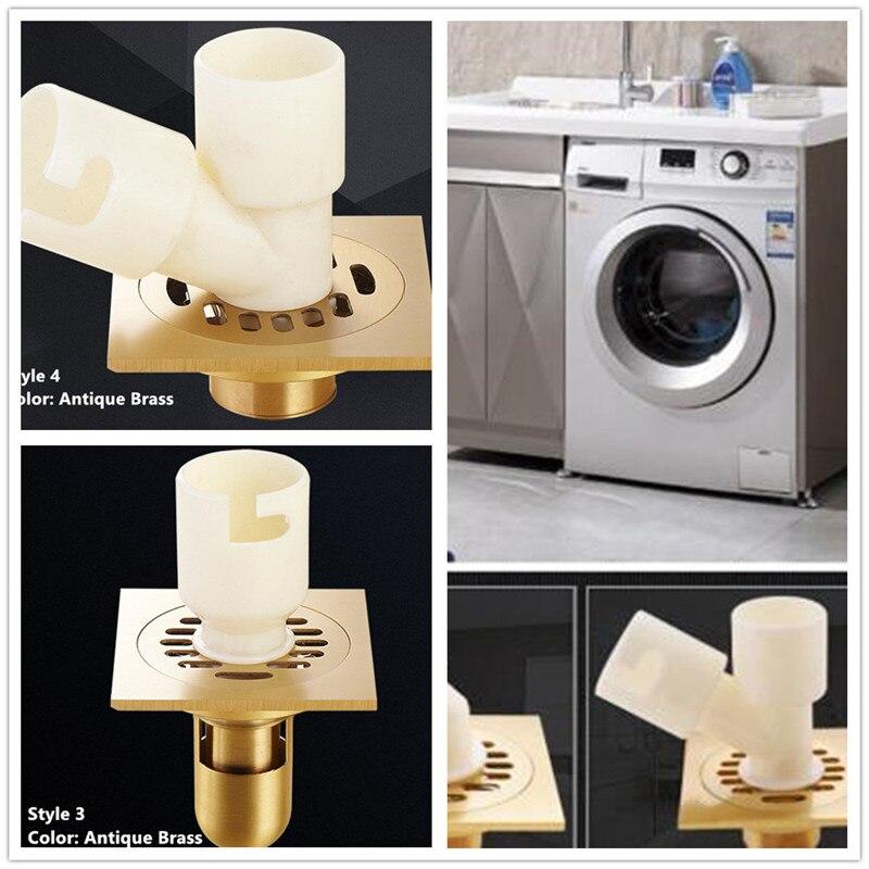 Dual purpose Veranda Washing Machine Floor Drains/ Grates Bathroom Sink Bathtub Accessory Floor Drains Anti Bad Smell Strainers