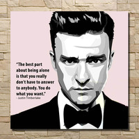 POP hot sale Justin Timberlake Movie Star handpainted oil painting Art Wall picture on Canvas poster for living room home decor