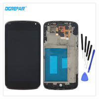 4 5 Black For LG Optimus Google Nexus 4 E960 LCD Display Touch Screen Digitizer Monitor