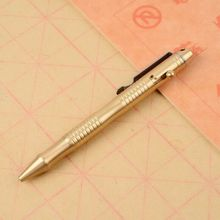 Solid Brass Pen With Retractable Refills And Bolt Action For Business Office EDC