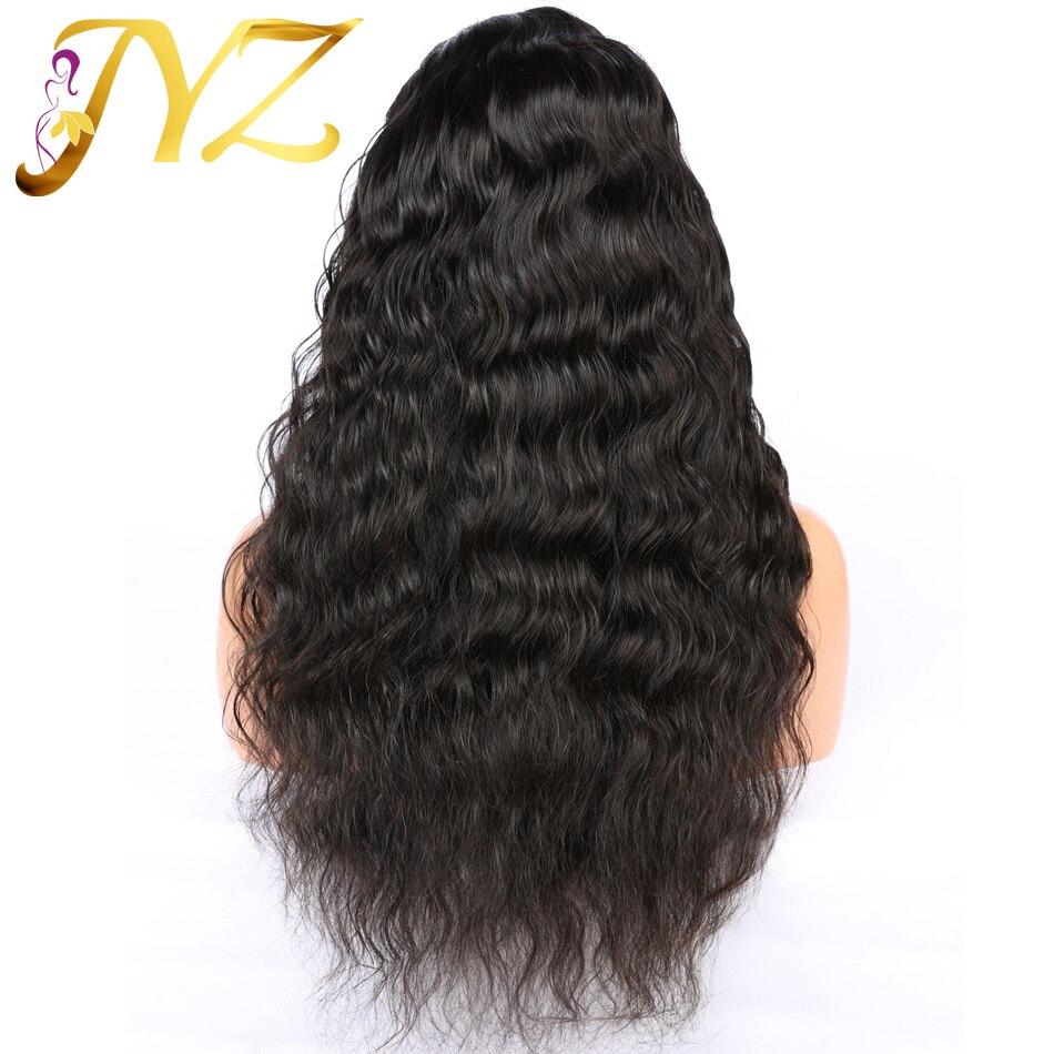 Lâche vague profonde pleine perruque de dentelle perruques de cheveux humains 8