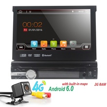Android 6.0 1Din CarDVD GPS Navigation player to Old car models Radio Music Bluetooth Rear View Camera SD USB For Auto radio gps