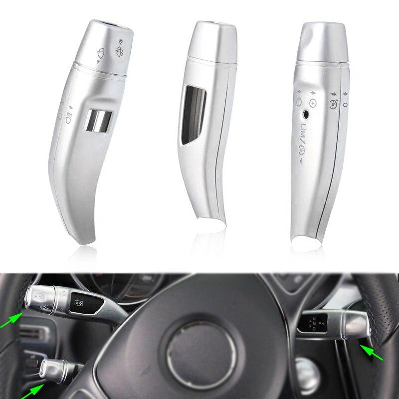 3 pièces/ensemble Chrome essuie-glace levier de vitesse paillettes de croisière couvre cadre autocollants kit pour Mercedes Benz GLC C/E classe W205 W213 voiture style