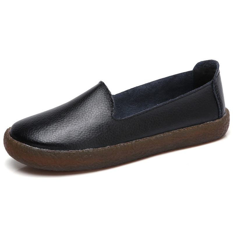 Women Shoes Casual Loafers Slip On Genuine Leather Shoes For Women Flats Shoes Female Moccasins Soft Leather Footwear