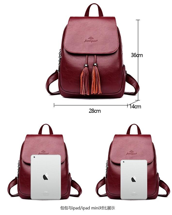 HTB1Uq6nrZuYBuNkSmRyq6AA3pXaa Fashion2018 Women Backpacks Women's Leather Backpacks Female school backpack women Shoulder bags for teenage girls Travel Back
