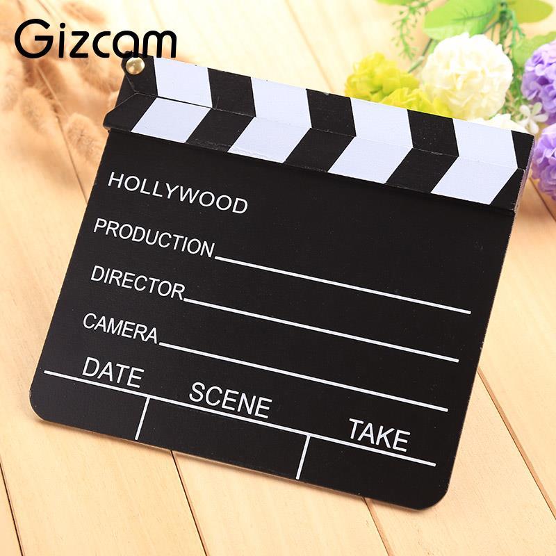 Gizcam 20*18*0.5cm Wooden Director Scene Video Clapperboard Movie Clapper Board TV Film  ...
