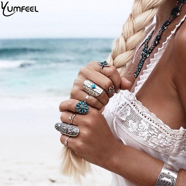 Yumfeel Brand New Bohemia Vintage Jewelry High Quality Unique Design Boho Ring S
