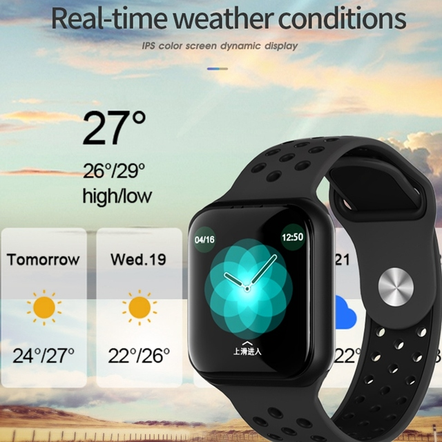 Sport Smart Watch F8 F9 S226 42mm Men For IOS Android Heart Rate Monitor Blood Pressure Fitness Tracker 7 Days Battery Pk iwo 8