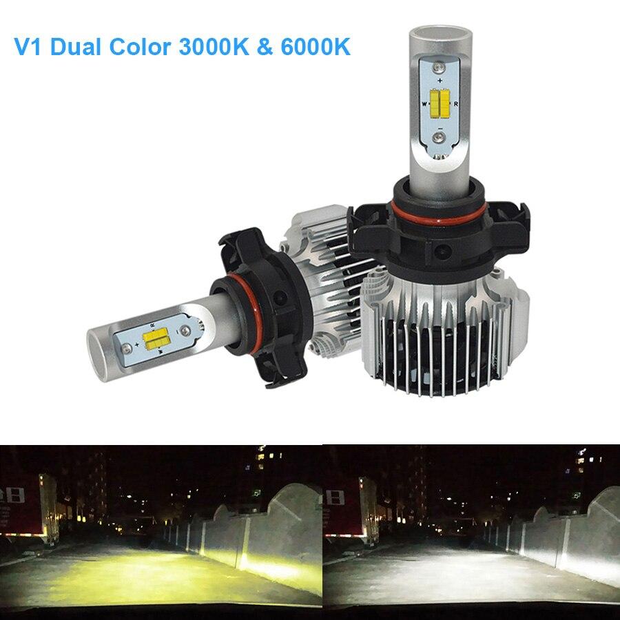 2PCS 36W Car P13W LED Bulbs PSX24W PSX26W Day time Running Light Dual YELLOW WHITE Original
