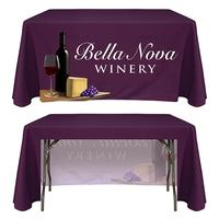 Trade show any custom logo table cover advertising rectangular table cloth