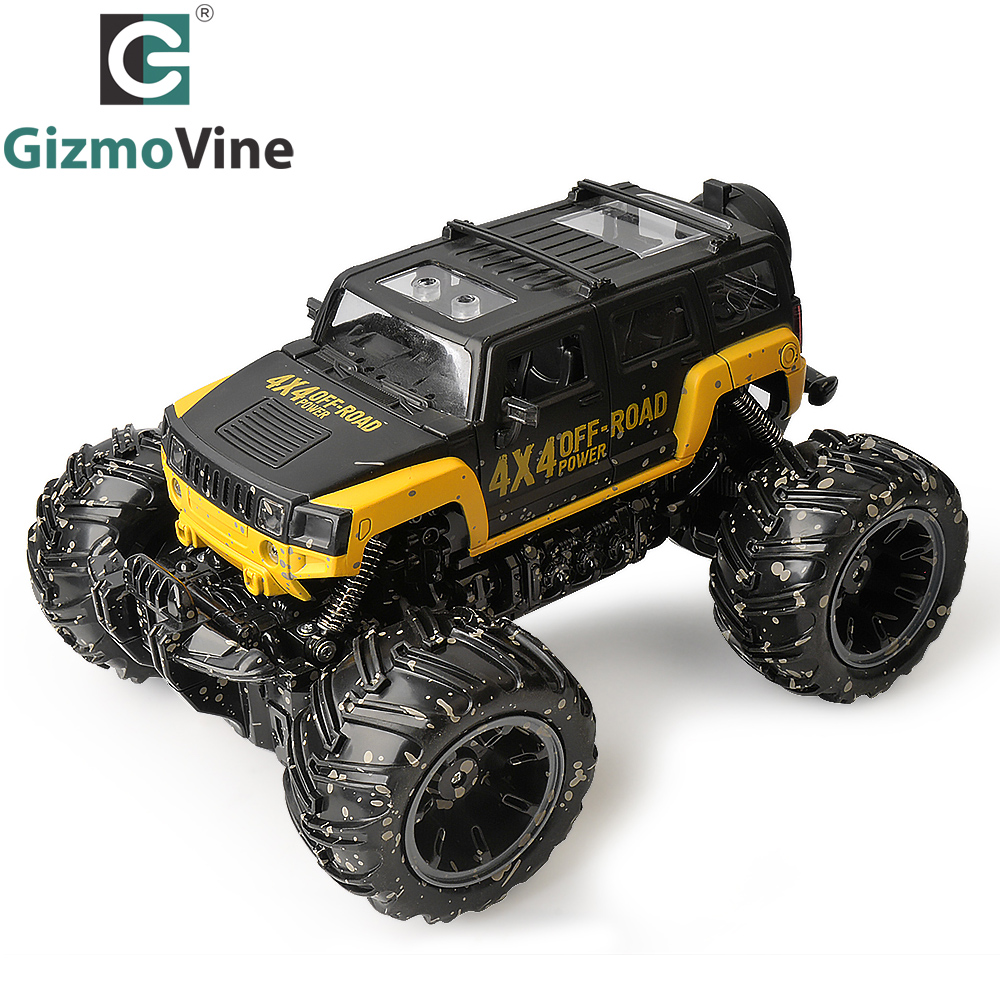 GizmoVine RC Car RC Dirt Bike 2.4Ghz 1/16 2 Wheel Drive Rock Crawler Rally Car 4×4 Motors Bigfoot car Off-Road Vehicle Toys
