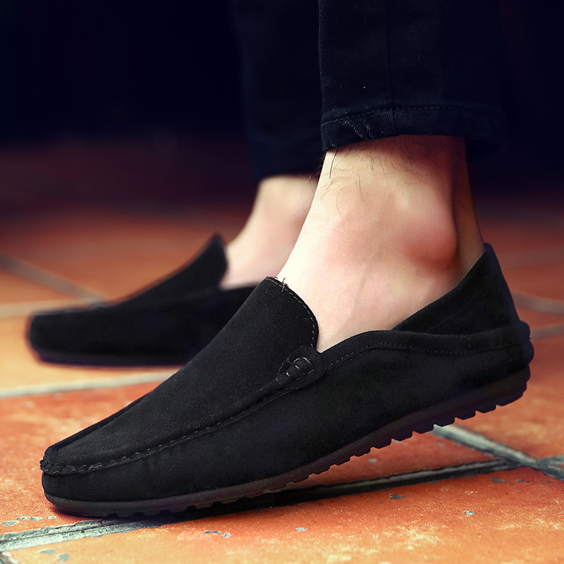 Shoes Men Loafers Peas Canvas Flats High-Quality Summer New-Fashion Size-39-44 Gommino