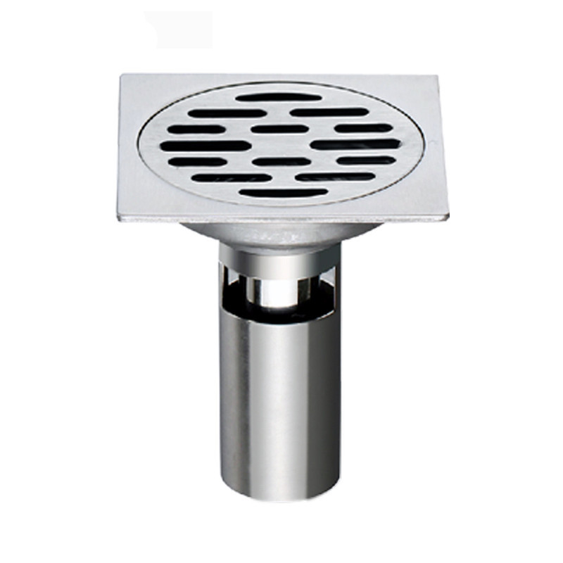 ФОТО Rolya Square Shower Floor Drain with Removable Strainer, Stainless Steel