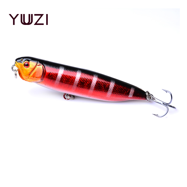 YUZI 1pcs/lot Topwater Pencil Lure Fishing Bait 90mm 11.76g Artificial Minnow Hard Lures Baits Floating Surface Fishing Tackle