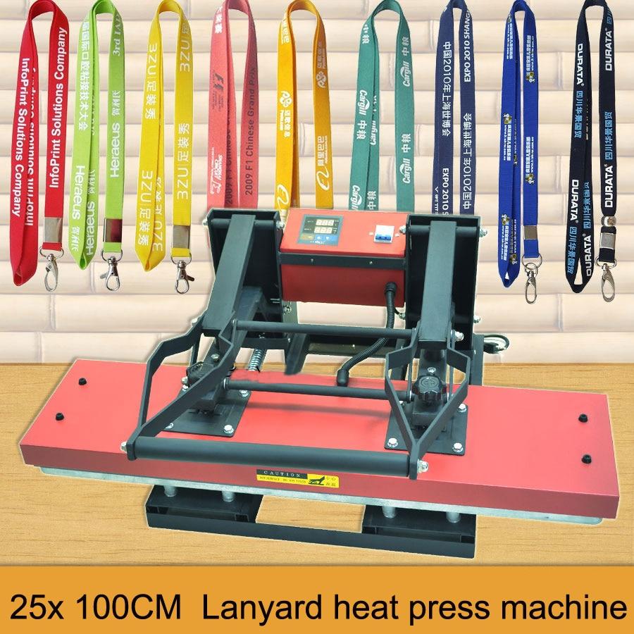 Lanyard heat transfer printing Machine,multicolor tags heat press printing machine