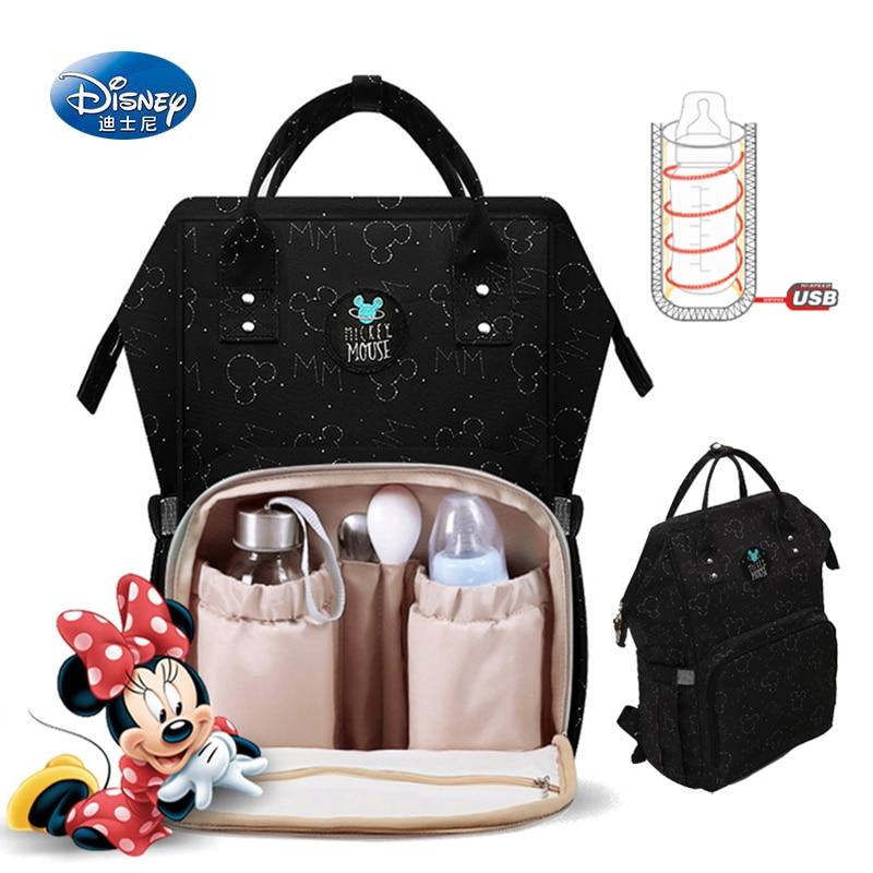 Sac d'isolation d'alimentation de bouteille de Disney sacs d'isolation de tissu d'usb Oxford sacs de poussette de couche nouveau sac à dos sac à couches imperméable-in Sacs à dos from Baggages et sacs    1