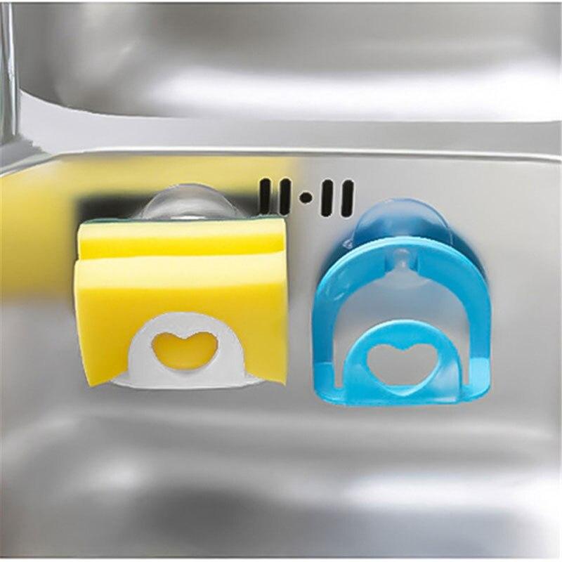 b244f8fb1c55c Sink Shelf Sponge Drainer Holder Wheat Fiber Sponges Storage Rack ...