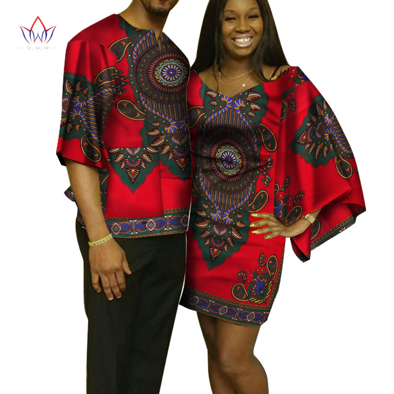 ea6515f253c3bc Dashiki Couples Clothes African Dresses for Women and Men Shirt African  Clothes for Lovers Traditional African Clothing WYQ100 – Twizamart.ca