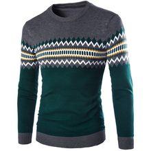 Зима Теплая Мужчины Свитера С Длинным Рукавом Slim Fit Пуловеры О Шеи Трикотаж
