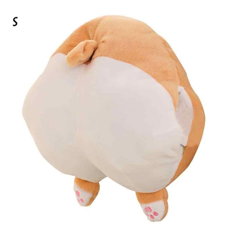 Корги собака в форме ягодиц Подушка круглые плюшевые игрушки кукла собака попа Подушка теплые перчатки детская комфортная кукла Плюшевые Развивающие игрушки