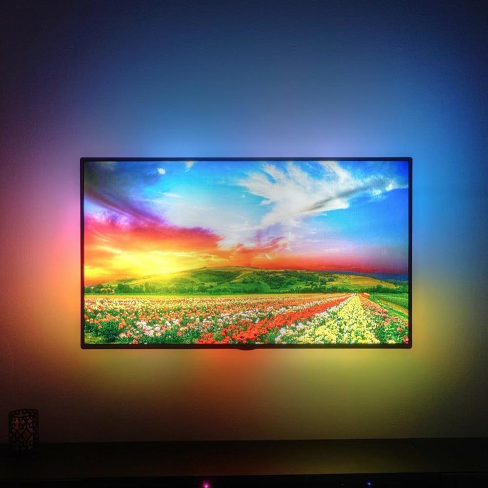 Ambilight  WS2812B 5050 Dream Color RGB LED Strip light TV Monitor Desktop PC Screen Backlight lighting Pixel Tape Ribbon 1M~5M