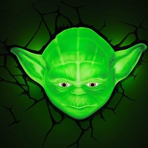 Image 3 - Novelty 3D Wall Lamp Star Wars Decor Light Death Star Master Yoda BB 8 R2D2 Darth Vaders Lightsaber Cordless Battery Operated