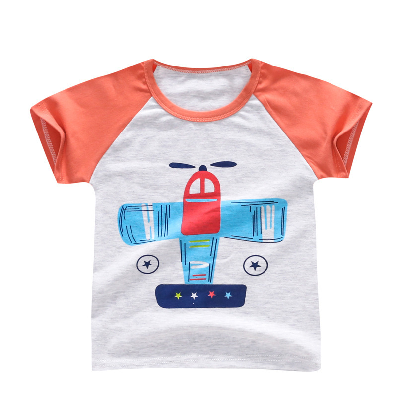 2018 New Summer Kids Cartoon T Shirts For Boys Girls Short Sleeve Fruit Tops 1-5Y Children Baby Clothing Cotton Brand Tees