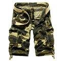 Мужские Шорты 2017 Новый Армия Камуфляж Шорты Мужчин Хлопка Pantalon Corto Hombre Повседневная Камуфляж Шорты Бермуды Плюс Размер