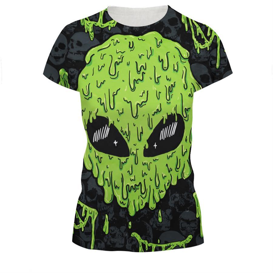 Newest Women Men Fashion 3D T-Shirt Alien T Shirt Tees Summer Street  Hipster Tshirts Cool Tees Tops 0789249591