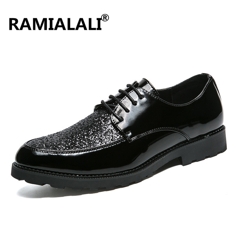 Beau black Slip Lace Up On Élégant De Base Design Hommes D'affaires Cuir 2018 En Ramialali On Chaussures Noir Black Sport kZiOXuPT