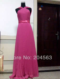 Free Shipping Chiffon A line Bosom Floor Length Celebrity Dress